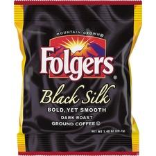 FOL 00019 Folgers Black Silk Ground Coffee Fraction Pack FOL00019