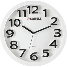 "LLR 61006 Lorell 13"" Round Quartz Wall Clock LLR61006"