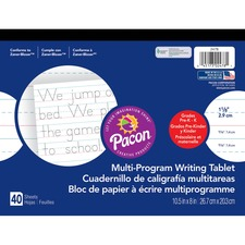 PAC 2478 Pacon Grade K Multi-Program Handwriting Tablet PAC2478