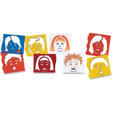 """Roylco Mix and Match Emotions Stencils - 8"""" x 8"""" - Assorted"""
