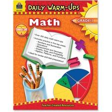 TCR 3961 Teacher Created Res. Gr 3 Math Daily Warm-Ups Book TCR3961