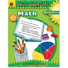 TCR 3962 Teacher Created Res. Gr 4 Math Daily Warm-Ups Book TCR3962