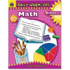 Teacher Created Resources Gr 5 Math Daily Warm-Ups Book Printed Book - Teacher Created Resources Publication - Book - Grade 5
