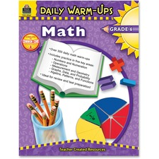 Teacher Created Resources Gr 6 Math Daily Warm-Ups Book Printed Book - Book - Grade 6
