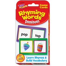 Trend Rhyming Words Dominoes Challenge Cards