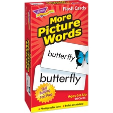 TEP 53005 Trend More Picture Words Skill Drill Flash Cards TEP53005