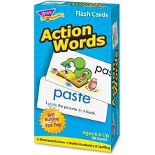TEP 53013 Trend Action Words Skill Drill Flash Cards TEP53013