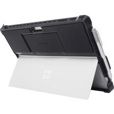Kensington BlackBelt Carrying Case (Book Fold) Microsoft Surface Pro 4, Surface Pro 6, Surface Pro 7 Tablet - Black - Drop Resistant, Damage Resistant, Scratch Resistant - Polycarbonate, Silicone - Textured - Hand Strap - 1 Pack