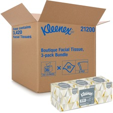 KCC 21200CT Kimberly-Clark Kleenex Boutique Tissue Bundle KCC21200CT