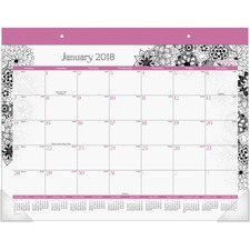 AAGD189704 - At-A-Glance FloraDoodle Monthy Desk Pad