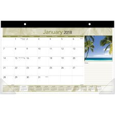AAGDMD17332 - At-A-Glance Tropical Design Compact Monthly Desk Pad