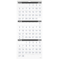 AAGPM11X28 - At-A-Glance Contemporary 3-Month Vertical Wall Calendar