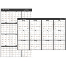 AAGPM26X28 - At-A-Glance Contemporary Erasable/Reversible Yearly Wall Planner