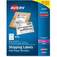 AVE27901 - Avery® Bulk Shipping Labels with Paper Receipt