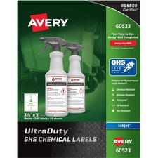 AVE 60523 Avery GHS Chemical Container Labels AVE60523