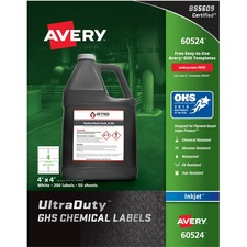 AVE 60524 Avery GHS Chemical Container Labels AVE60524