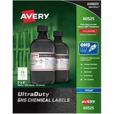 AVE 60525 Avery GHS Chemical Container Labels AVE60525