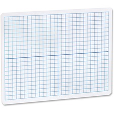 FLP 11000 Flipside Prod. Grid/Plain 2side DryErase Lap Board FLP11000