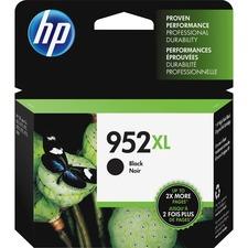 HP 952XL Ink Cartridge, Black (F6U19AN) - Inkjet - High Yield - 2000 Pages - Black - 1 Each