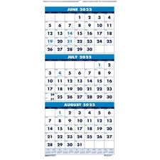 HOD 3645 Doolittle Three-month Horizontal Wall Calendar HOD3645