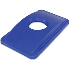 IMP 702511CT Impact Round Cut Out Blue Thin Bin Lid IMP702511CT