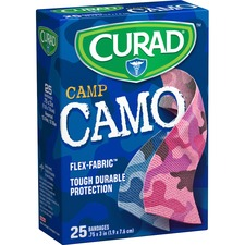 MII CUR45702RB Medline Curad Pink Camp Camo Sterile Bandages MIICUR45702RB