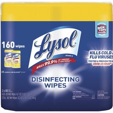 RAC 80296 Reckitt Benckiser Lysol Disinfecting Wipes RAC80296