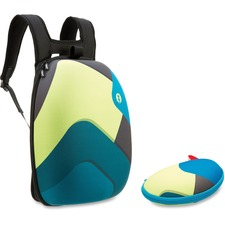 ZIT ZSHLBGBSPR ZIPIT Green/Blue Shapes Shell Backpack Set ZITZSHLBGBSPR