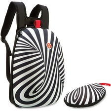 ZIT ZSHLBWSSPR ZIPIT Black/White Swirls Shell Backpack Set ZITZSHLBWSSPR