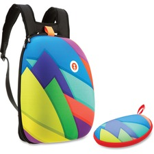 ZIT ZSHLCTSPR ZIPIT Colorful Triangles Shell Backpack Set ZITZSHLCTSPR