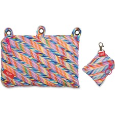 ZIT ZT3RSTRSPR ZIPIT Stripes Design Colorz Three-Ring Pouch Set ZITZT3RSTRSPR