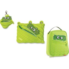 ZIT ZTLBGZZSPR ZIPIT Monstar Lunch Bag Pouch Set ZITZTLBGZZSPR