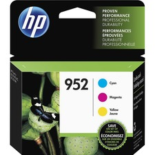 HP 952 Ink Cartridges - Cyan, Magenta, Yellow, 3 Cartridges (N9K27AN) - 700 Pages Cyan, 700 Pages Yellow, 700 Pages Magenta - 3 / Pack