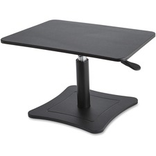 "Victor High Rise Height Adjustable Laptop Stand - 18.14 kg Load Capacity - 15.25"" (387.35 mm) Height x 21"" (533.40 mm) Width x 13"" (330.20 mm) Depth - Desktop - Steel, Wood, Polyvinyl Chloride (PVC) - Black"