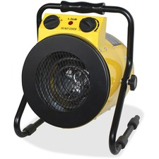 Royal Sovereign Heavy Duty Heater - HUT-100 - Stainless Steel - Electric - Electric - 1.50 kW - 20 m² Coverage Area - 120 V AC - Warehouse, Workshop - Portable - Yellow, Black