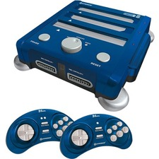 HYPERKIN SNES/ Genesis/ NES RetroN 3 Gaming Console 2.4 GHz Edition (Bravo Blue)