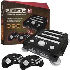 HYPERKIN SNES/ Genesis/ NES RetroN 3 Gaming Console 2.4 GHz Edition (Onyx Black)