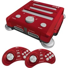 HYPERKIN SNES/ Genesis/ NES RetroN 3 Gaming Console 2.4 GHz Edition (Laser Red)