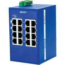 B+B Monitored Ethernet Switch 16 port, SNMP, Modbus/TCP