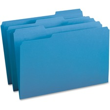 BSN 99719 Bus. Source 1/3-cut Tab Legal Colored File Folders BSN99719