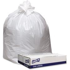 GJO 3339W Genuine Joe Extra Strong White Trash Can Liners GJO3339W