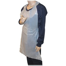 "GJO 85141CT Genuine Joe 50"" Disposable Poly Apron GJO85141CT"