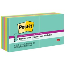 MMMR33010SSMIA - Post-it® Super Sticky Pop-up Notes - Miami Color Collection
