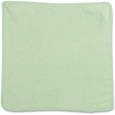 """Rubbermaid Commercial 12"""" Green Light Commercial MF Cloth - Cloth - 12"""" (304.80 mm) Width x 12"""" (304.80 mm) Length - 1 Each - Green"""