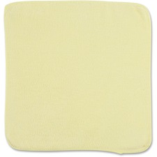 """Rubbermaid Commercial 12"""" Yellow Light Commrcl MF Cloth - Cloth - 12"""" (304.80 mm) Width x 12"""" (304.80 mm) Length - 1 Each - Yellow"""