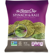 The Better Chip Spinach/Kale Chips - Gluten-free - Spinach & Kale - Bag - 42.5 g