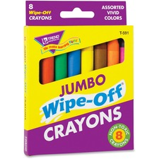 TEP 591 Trend Jumbo Wipe-Off Crayons TEP591