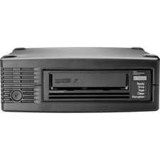 """HPE Tape Drive - LTO-7 - 6 TB (Native)/15 TB (Compressed) - 6Gb/s SAS - 5.25"""" (133.35 mm) Width - 1/2H Height - External - 5 MB/s Native - 12.50 MB/s Compressed - Linear Serpentine - Encryption"""
