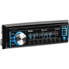 BOSS AUDIO 750BRGB Single-DIN CD/MP3 Player, Receiver, Bluetooth, Detachable Front Panel, Wireless Remote