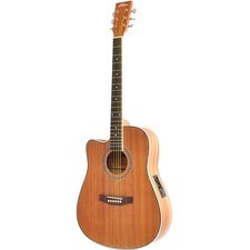 PylePro PGA53LBR Acoustic Electric Guitar
